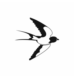 Swallow icon black simple style vector