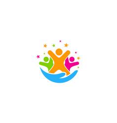 Team care logo icon design vector