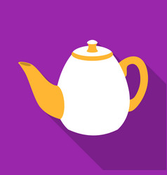 teapot icon in flat style isolated on white vector image