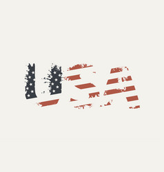 usa letters in colors us flag in grunge style vector image