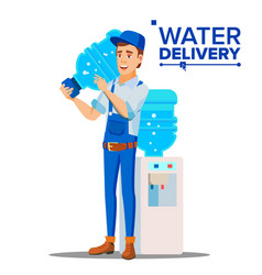 water delivery service man delivering vector image