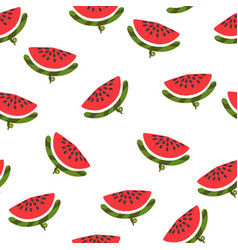 watermelon seamless pattern texture with fresh vector image