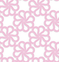 White 3D with colors pink flowers vector
