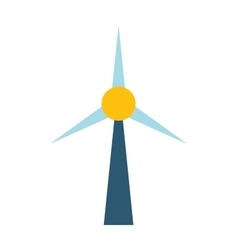 Wind mill station vector image