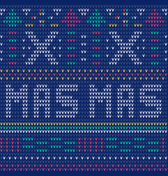 winter holiday seamless knitting pattern vector image