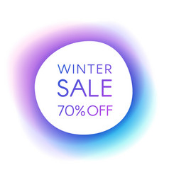 winter sale smooth paper banner vector image