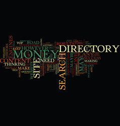 Your own article directory road to easy money vector