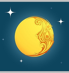 Decorative moon shape ornament vector image