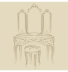 Dressing console vector image