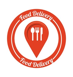 food delivery design vector image vector image