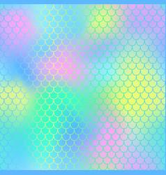 mermaid seamless pattern background vector image