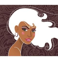 portrait of beautiful girl vector image vector image