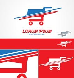 Shopping Cart logo icon template vector image vector image