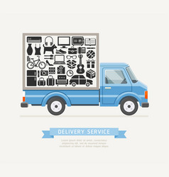 delivery truck service flat style vector image