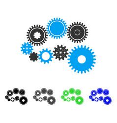 gear mechanism flat icon vector image vector image