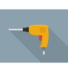 Drill hand tool flat vector image