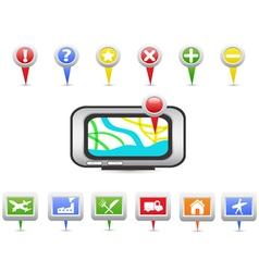 GPS and Navigation icons vector image