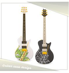 Medical marijuana guitar eight vector