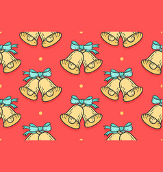 seamless pattern for merry christmas vector image