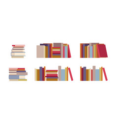 book piles set vector image