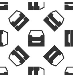 document inbox icon seamless pattern on white vector image