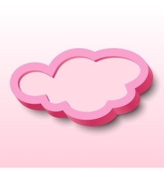 3d cloud frame vector