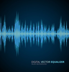 Abstract equalizer background blue vector image