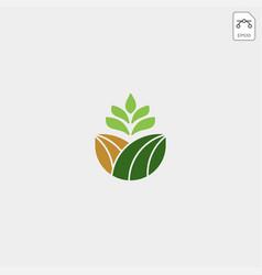 Agriculture farm line badge vintage logo template vector