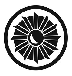 Aircraft repair motor icon simple style vector