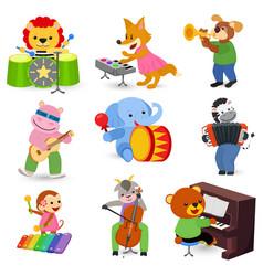 animal music animalistic character musician vector image