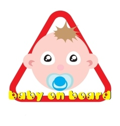 Baby on board sign white background vector