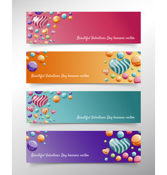 banner for valentines day concept vector image