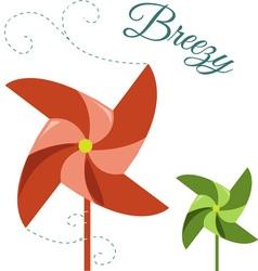 Breezy pinwheel vector