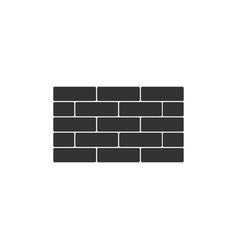 bricks icon isolated flat design vector image