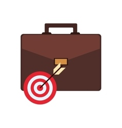 Briefcase and bullseye icon vector