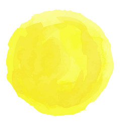 bright yellow watercolor painted stain vector image