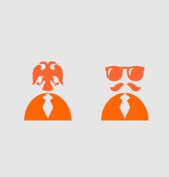 businessman torso 3d icon sunglasses and mustache vector image