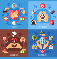 Charity help design concept vector