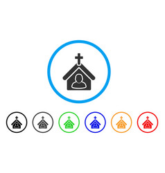 church person rounded icon vector image