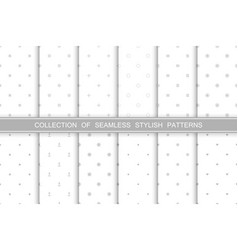 collection cute seamless minimalistic patterns vector image