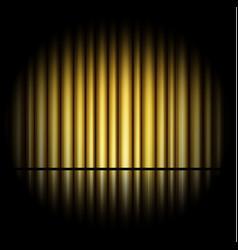 Curtain golden background vector