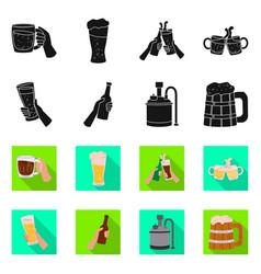 Design bar and oktoberfest symbol vector