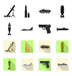 Design weapon and gun icon collection vector