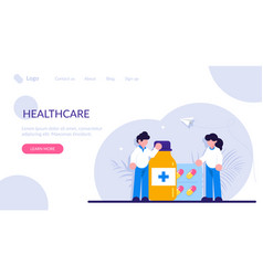 Drugstore and pharmacist concept collection of vector