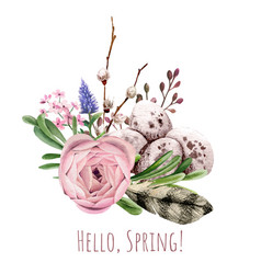 easter floral decor hand drawn image vector image