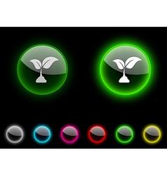 Ecology button vector
