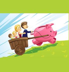 family financial concept vector image