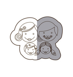 family together people icon vector image