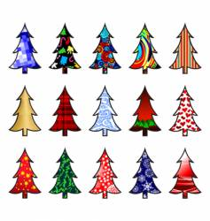 Fir trees vector