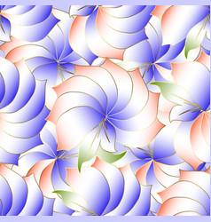 floral elegance 3d seamless pattern modern vector image